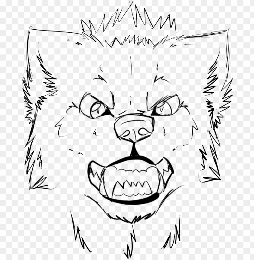free PNG easy to draw wolf howling at the moon cool grey - snout drawing wolf PNG image with transparent background PNG images transparent