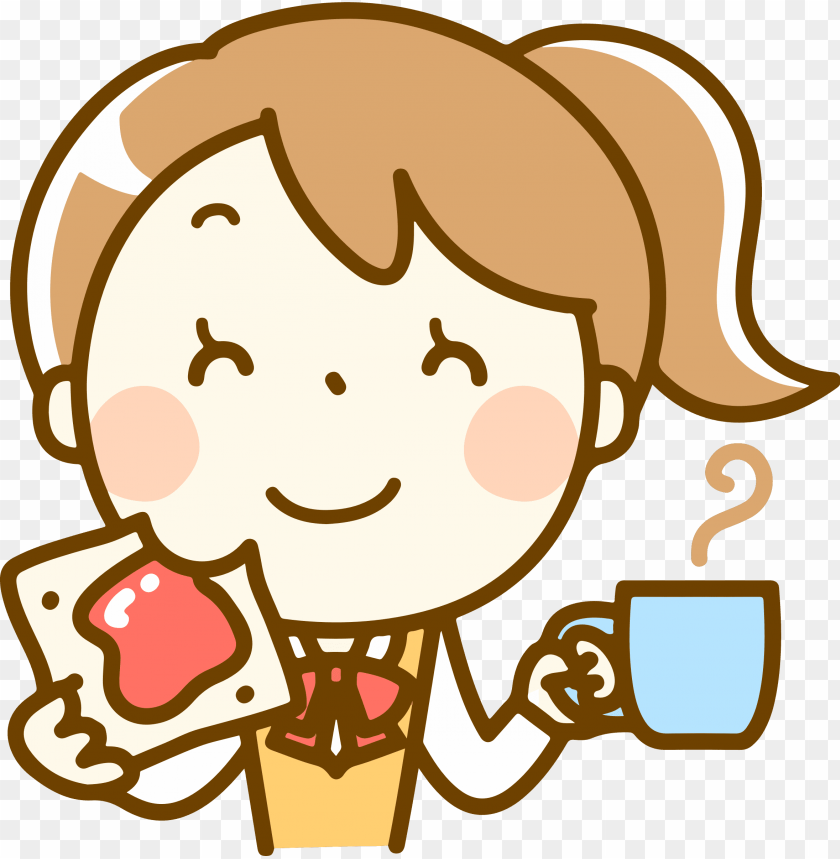 free PNG eating clipart girl eating - girl washing dishes clipart PNG image with transparent background PNG images transparent