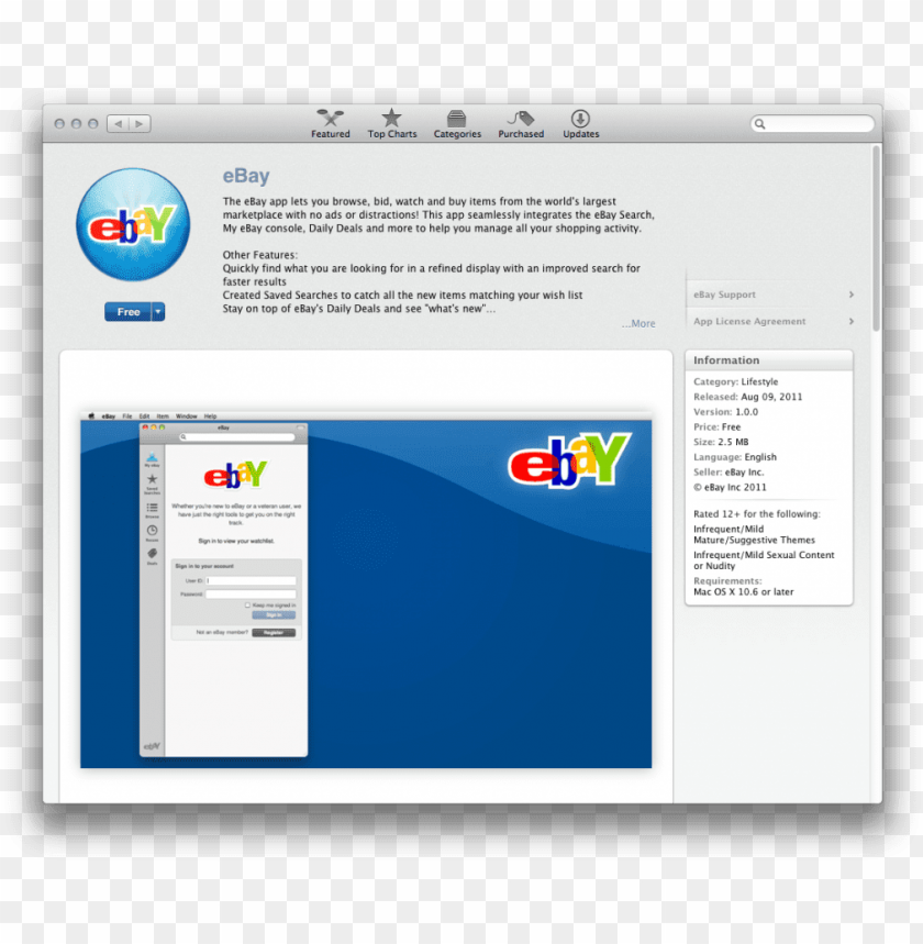 Ebay Mac App Png Image With Transparent Background Toppng