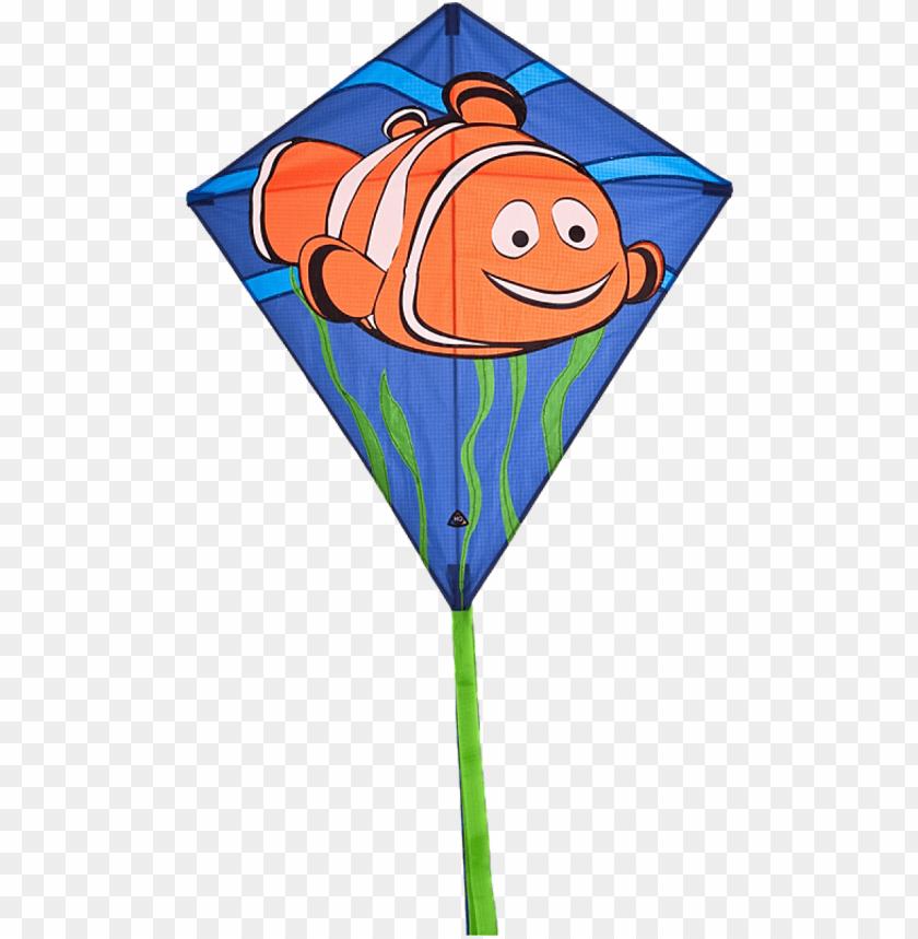 free PNG eddy clownfish diamond kite - hq kites & designs usa 100102 eddy clownfish diamond PNG image with transparent background PNG images transparent