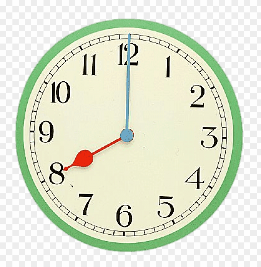 free PNG eight o'clock coloured clock PNG image with transparent background PNG images transparent