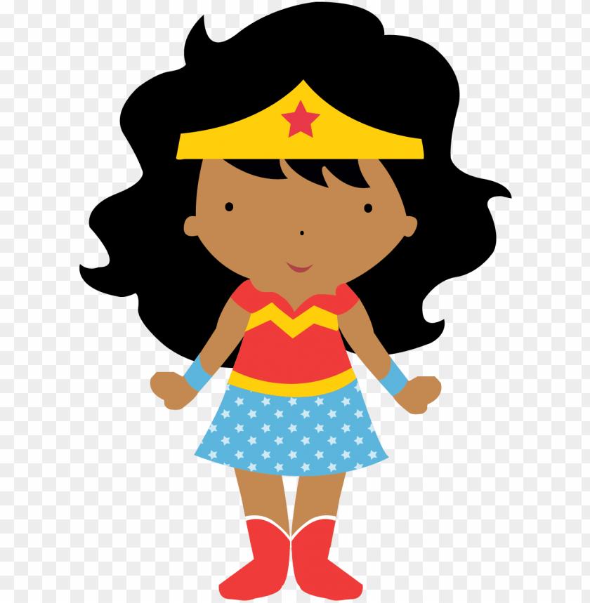Ela Escolheu Mulher Maravilha African American Girl Superhero