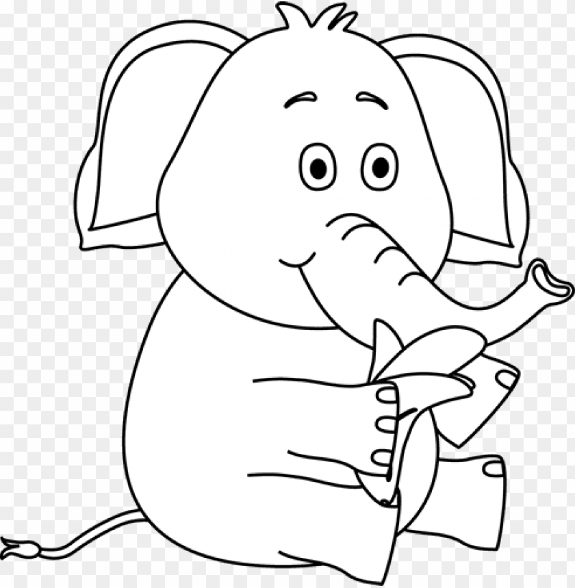 Elephant Eating Bananablack And White Png Image With Transparent Background Toppng Elephant free download png resolution: toppng