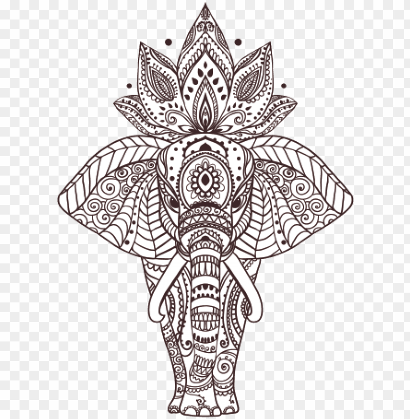 Elephant Head Design Mandala Art Coloring Pages Animals Png Image With Transparent Background Toppng Download png image you need and share it via sns. mandala art coloring pages animals png