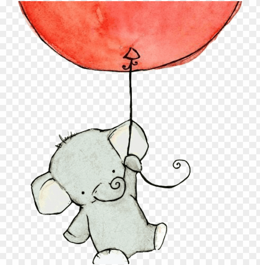 free PNG elephant holding a balloon drawing PNG image with transparent background PNG images transparent