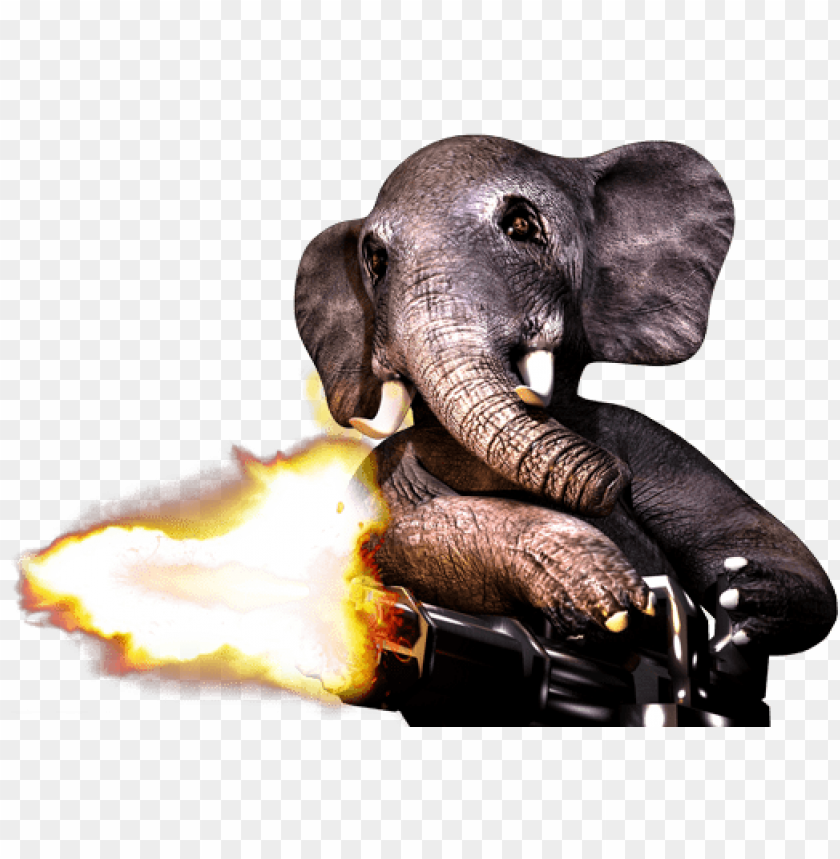 free PNG elephant with a minigun PNG image with transparent background PNG images transparent