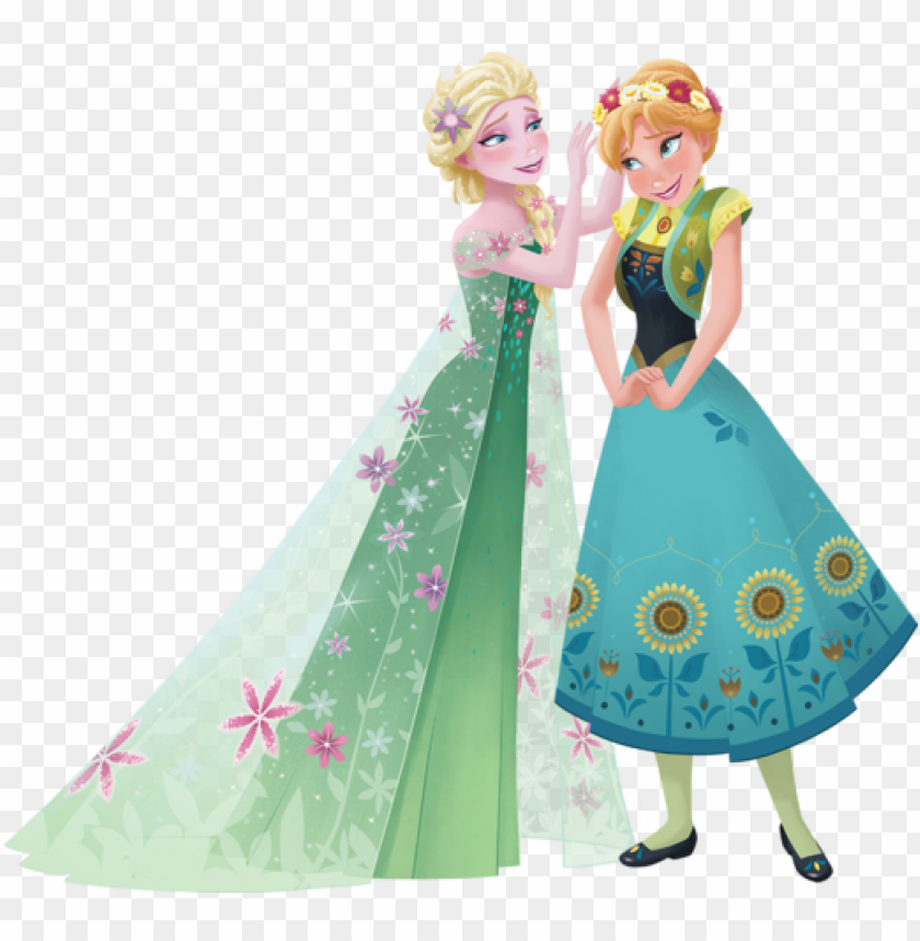 free PNG elsa and anna - elsa frozen fever 2d PNG image with transparent background PNG images transparent