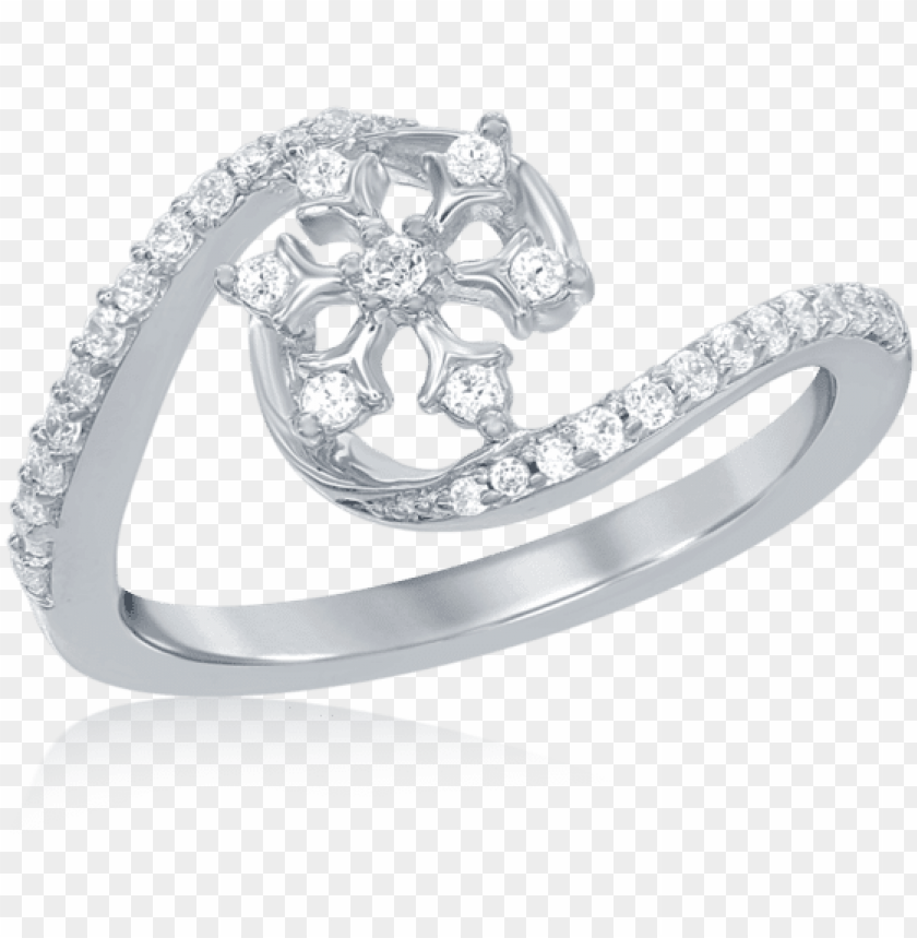 free PNG elsa frozen snowflake diamond swirl ring in 14k white - elsa snowflake diamond swirl ri PNG image with transparent background PNG images transparent