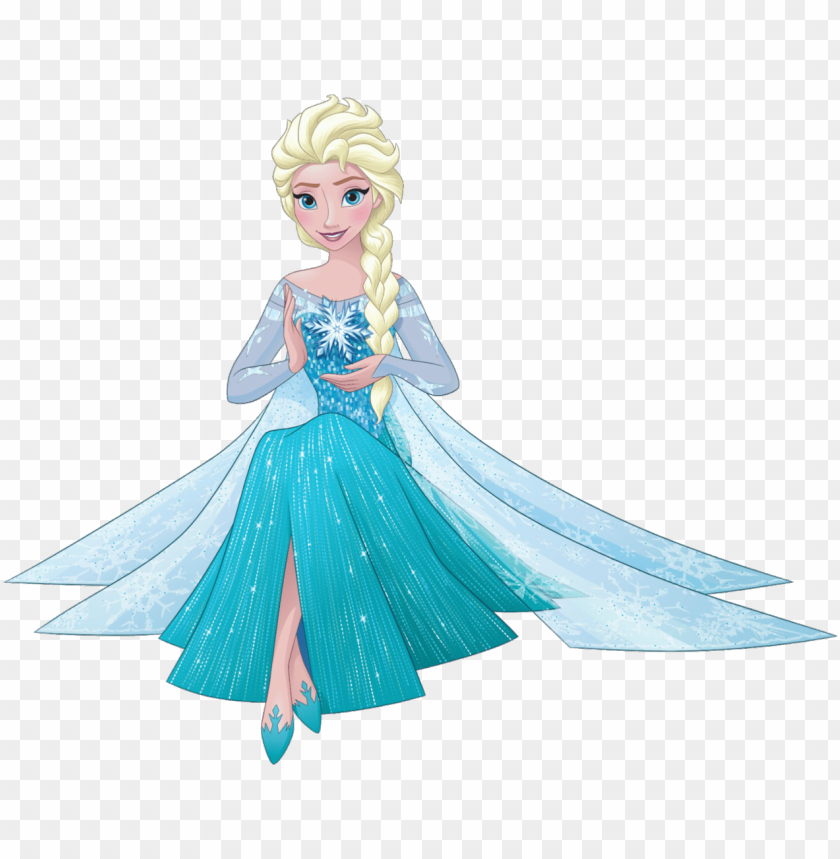 free PNG elsa sit - disney princess elsa 2016 PNG image with transparent background PNG images transparent