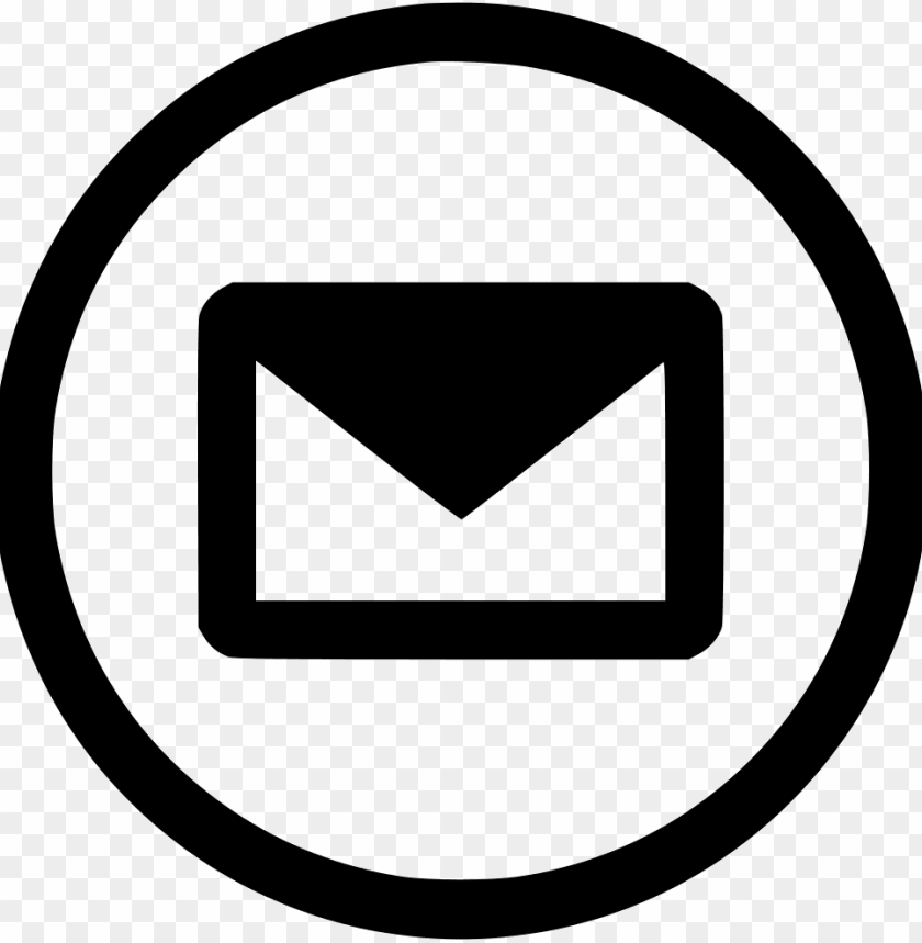 free PNG email mail envelope send communication data comments - email icon white circle PNG image with transparent background PNG images transparent