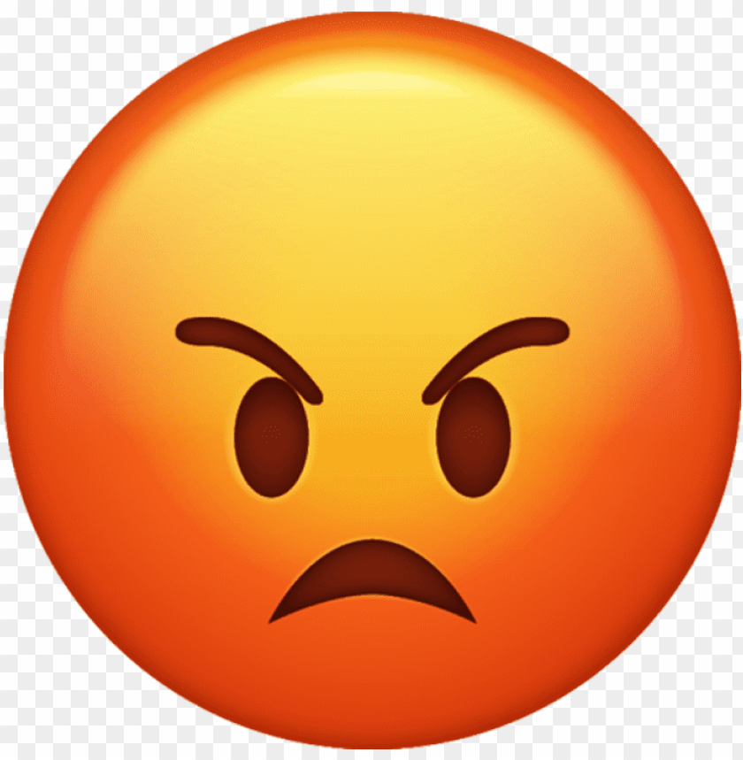 free PNG emoji anger emoticon iphone - angry emoji PNG image with transparent background PNG images transparent