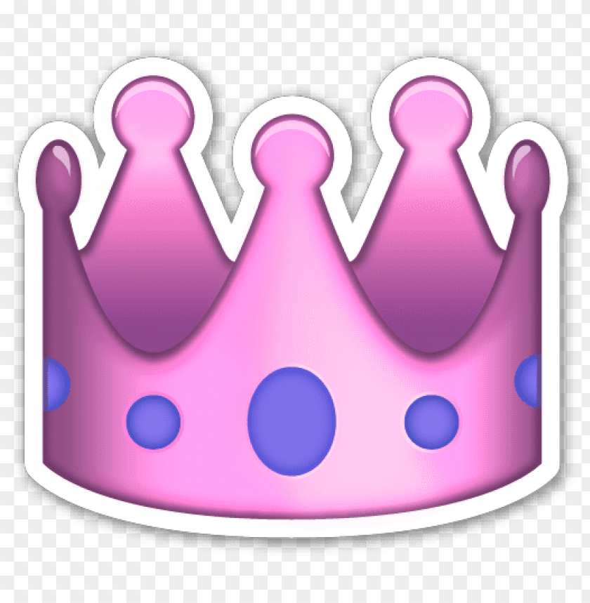 free PNG emoji coroa crown tumblr overlay pink pinkoverlay - pink crown emoji PNG image with transparent background PNG images transparent