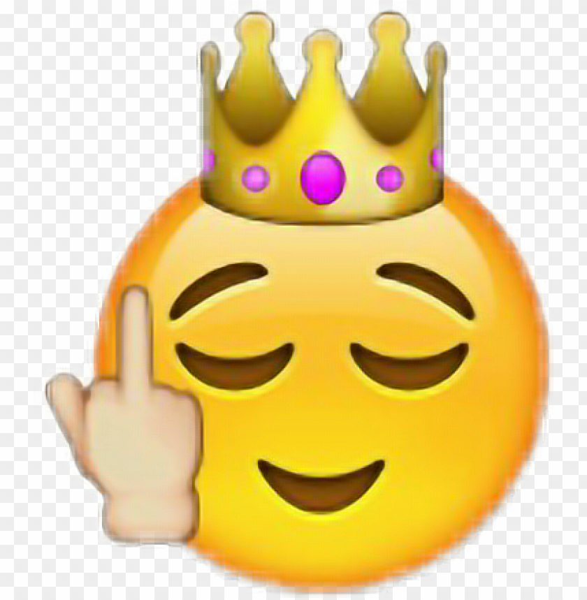free PNG emoji fuck emoticon iphone apple - middle finger emoji with crow PNG image with transparent background PNG images transparent