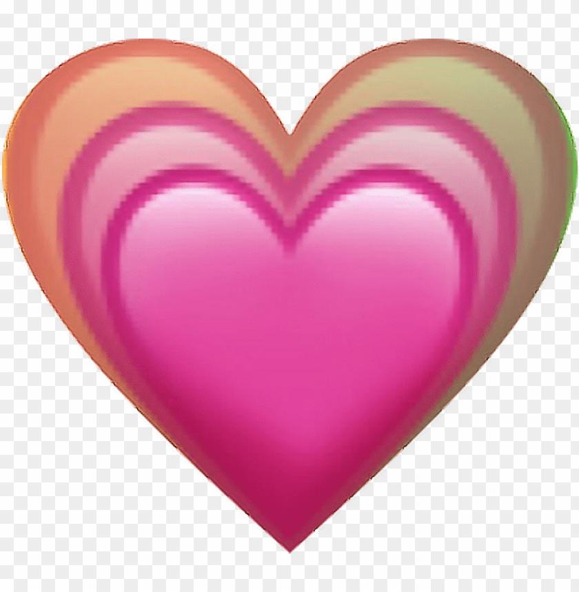 free PNG emoji heart rainbow love lovely pink bigger foryou - transparent background pink heart emoji PNG image with transparent background PNG images transparent