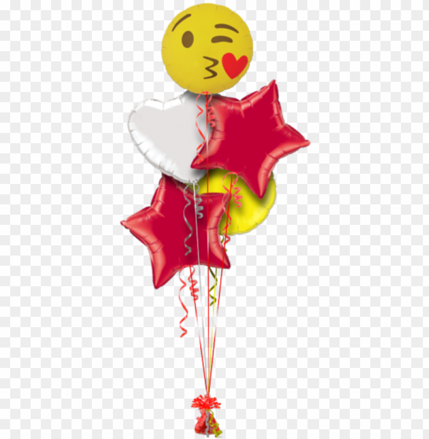 free PNG emoji kissing heart valentines balloon - happy birthday sister balloo PNG image with transparent background PNG images transparent