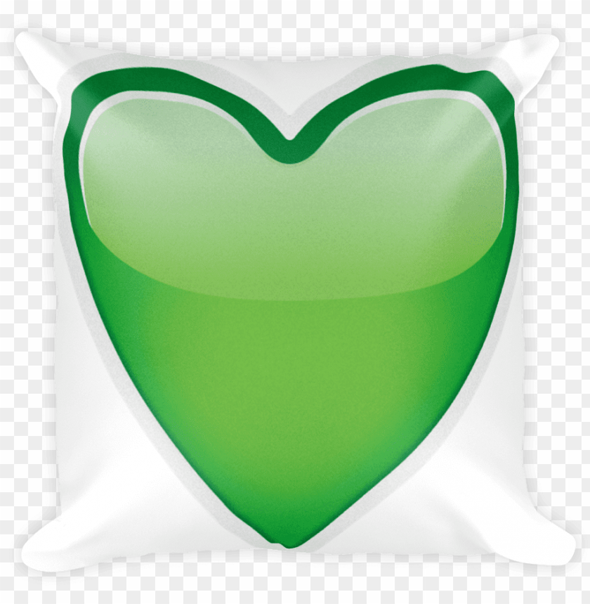 emoji pillow green heart just emoji png transparent PNG image with transparent background@toppng.com