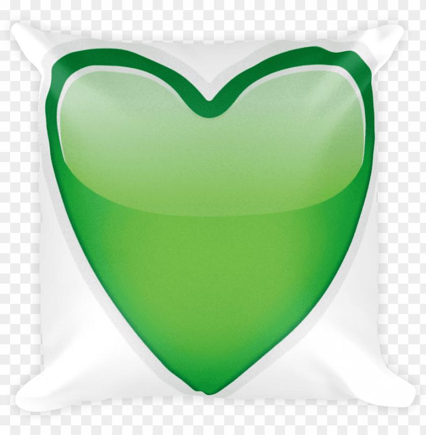 free PNG emoji pillow green heart just emoji png transparent PNG image with transparent background PNG images transparent