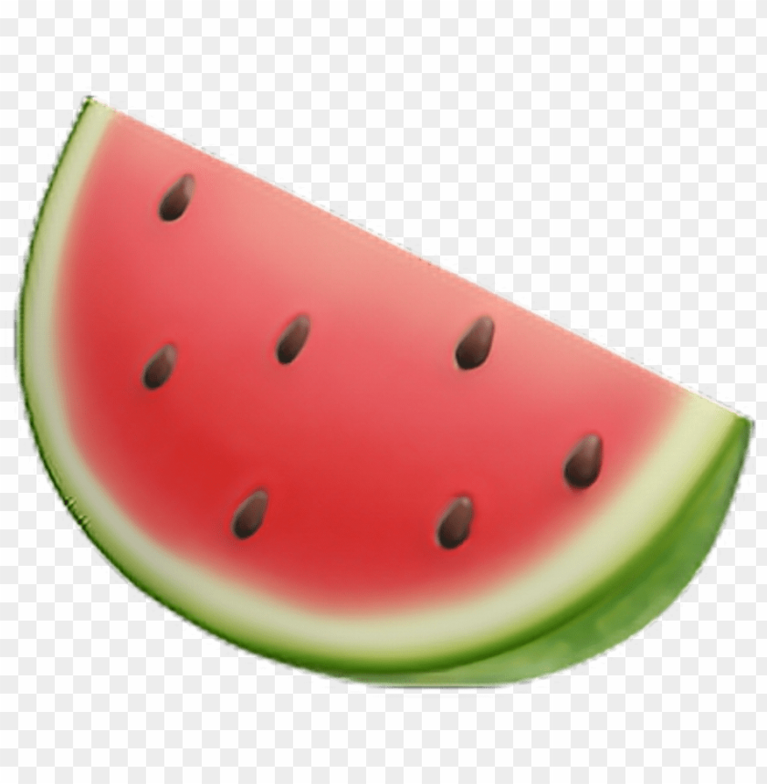 free PNG emoji watermelon pasteque rouge vert fruit apple iphone PNG image with transparent background PNG images transparent