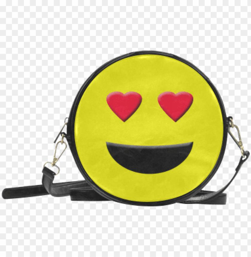 free PNG emot heart smiley round sling bag model id  - miraculous ladybug marinette bag PNG image with transparent background PNG images transparent