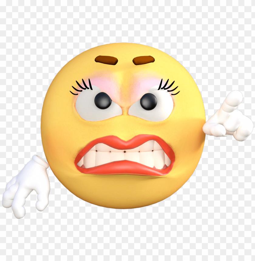 Emoticon Emoji Angry Cartoon Emotion Yello Angry Whatsapp
