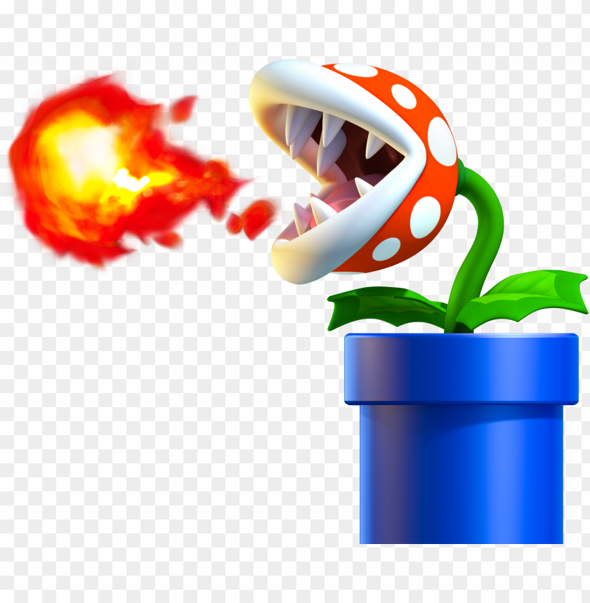 Enemy Art From New Super Mario Bros Fire Piranha Plant Mario Png