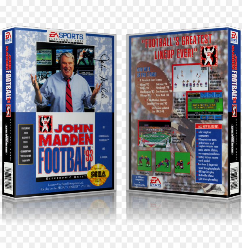 free PNG enesis john madden football 93 sega megadrive replacement PNG image with transparent background PNG images transparent