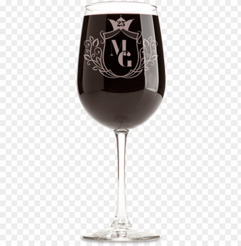 free PNG engraved anniversary wine glass - wine cup mockup free PNG image with transparent background PNG images transparent