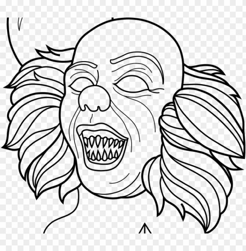 free PNG ennywise coloring pages pennywise coloring pages 33795 - pennywise coloring pages 2017 PNG image with transparent background PNG images transparent