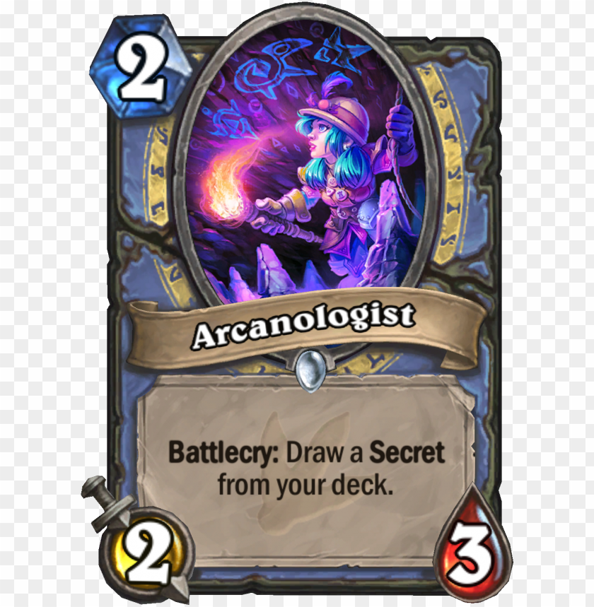 free PNG enus arcanologist - hearthstone 2 cost legendary PNG image with transparent background PNG images transparent
