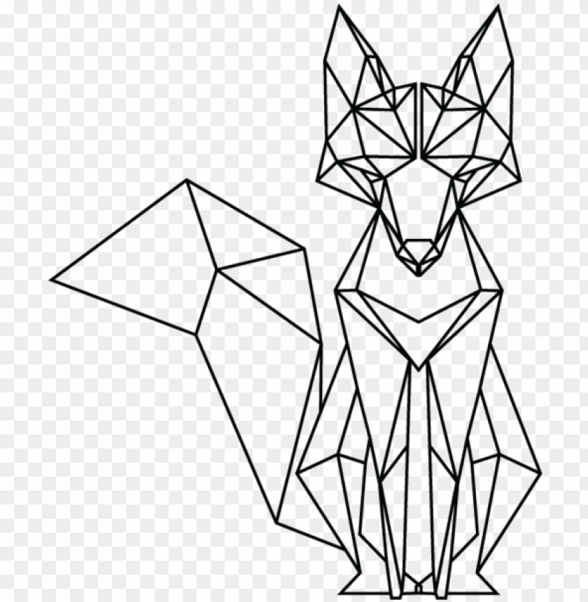 free PNG eometric fox - google search - geometric fox PNG image with transparent background PNG images transparent
