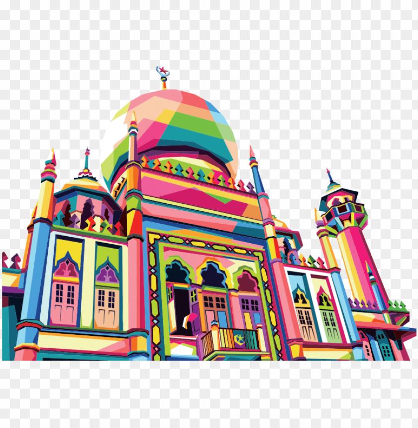 Eometric Mosque Pop Art By Rizkydwi123 Gambar Pemandangan Masjid
