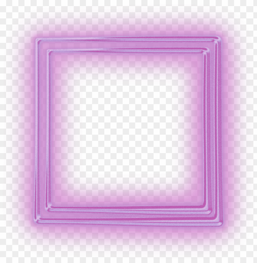 eon square squares kare frame frames border borders - square neon frame PNG image with transparent background@toppng.com