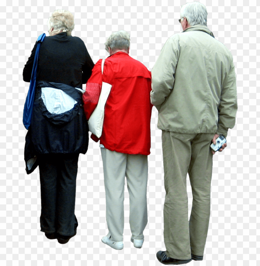 free PNG eople cutout, cut out people, render people, people - old people back view PNG image with transparent background PNG images transparent