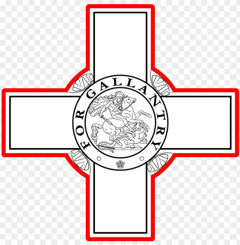 free PNG eorge cross - malta flag george cross PNG image with transparent background PNG images transparent