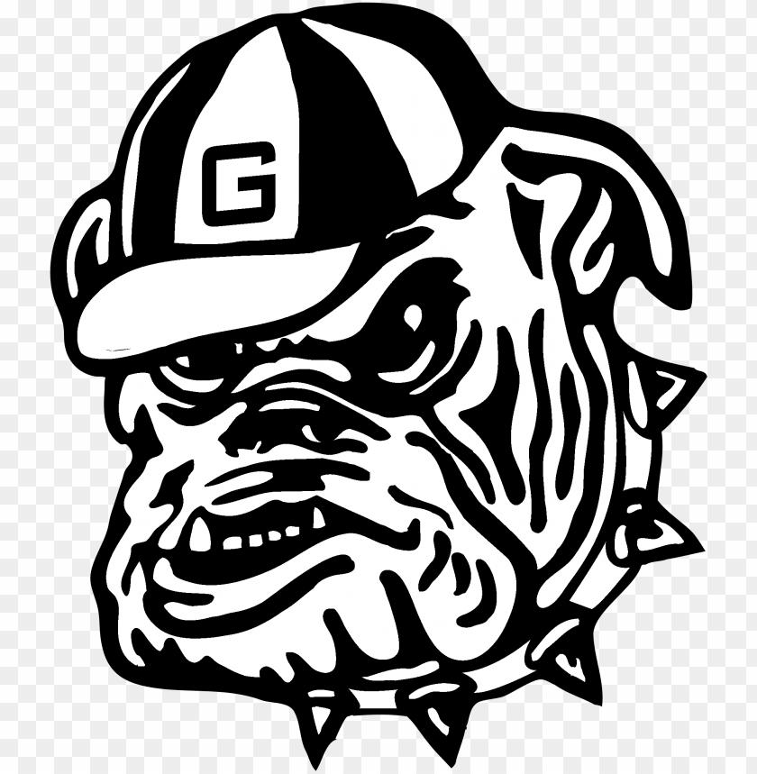 free PNG eorgia bulldogs logo black and white - georgia bulldog logo sv PNG image with transparent background PNG images transparent