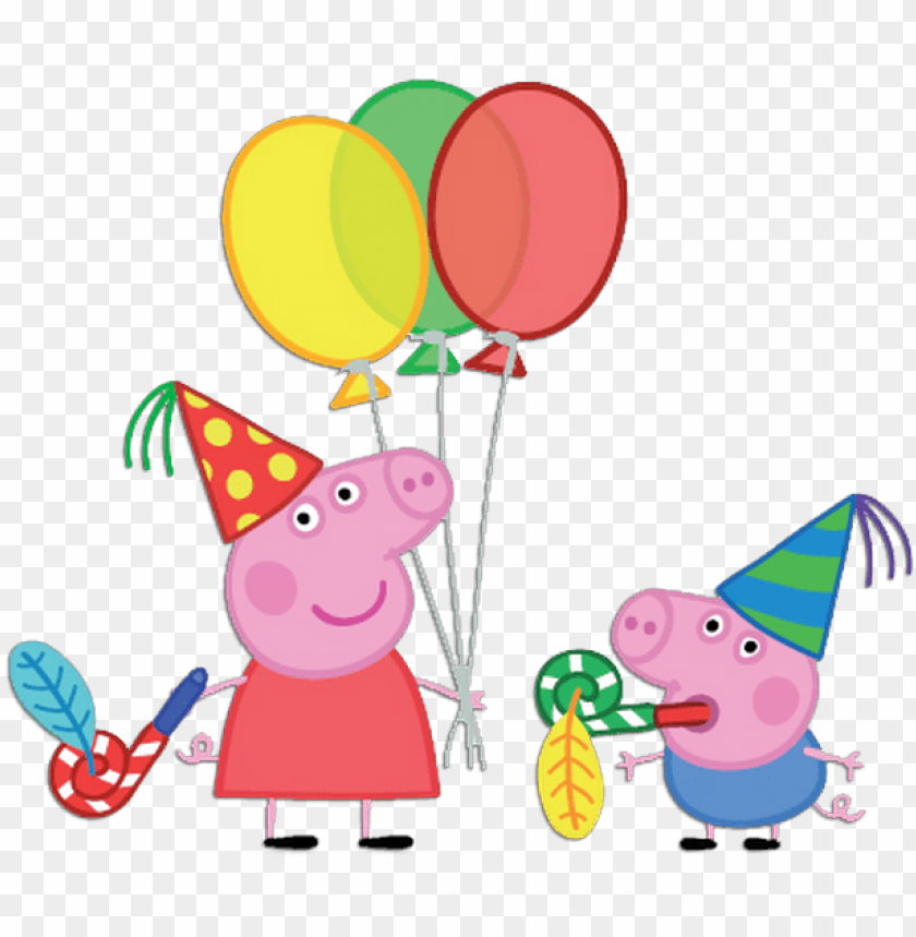 free PNG eppa pig balloons png vector free download - peppa pig with balloons PNG image with transparent background PNG images transparent
