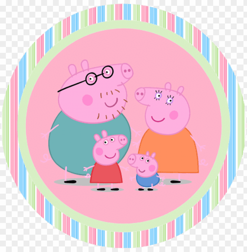 free PNG eppa pig free printable toppers, labels, stickers - peppa pig sticker PNG image with transparent background PNG images transparent