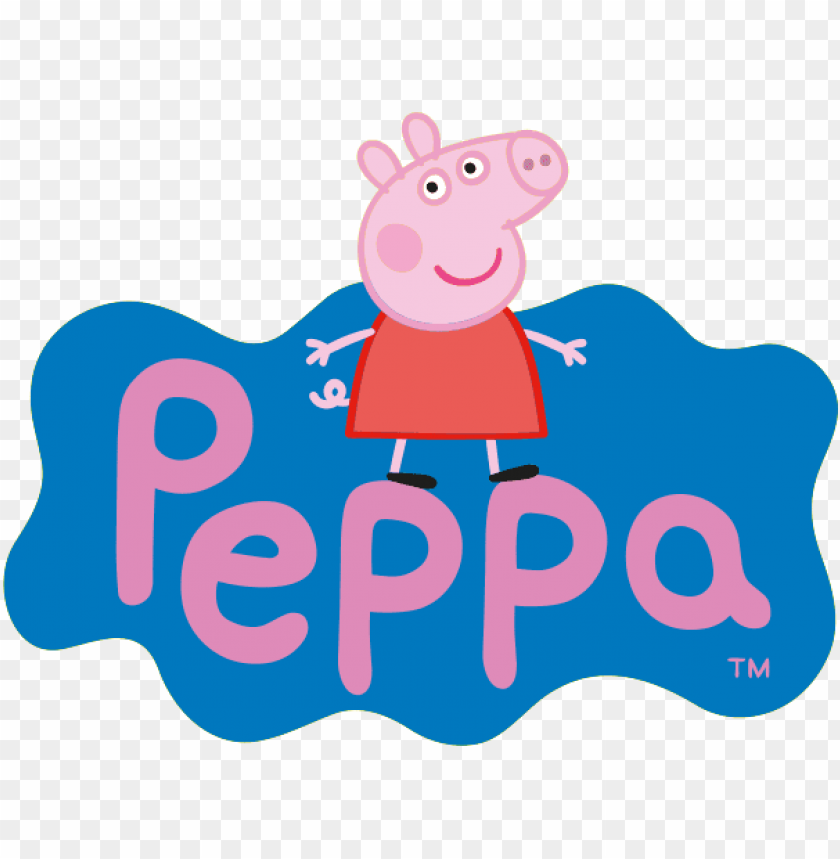 Eppa Pig Molde Pig Png Pig Party Real Moms Fiestas Peppa Pig Logo Png Image With Transparent Background Toppng