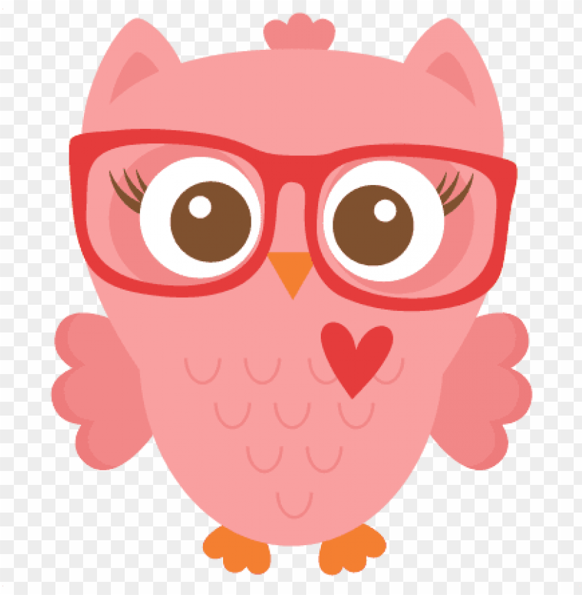 free PNG erdy girl owl cuts svg cutting files - owl clip art with glasses PNG image with transparent background PNG images transparent