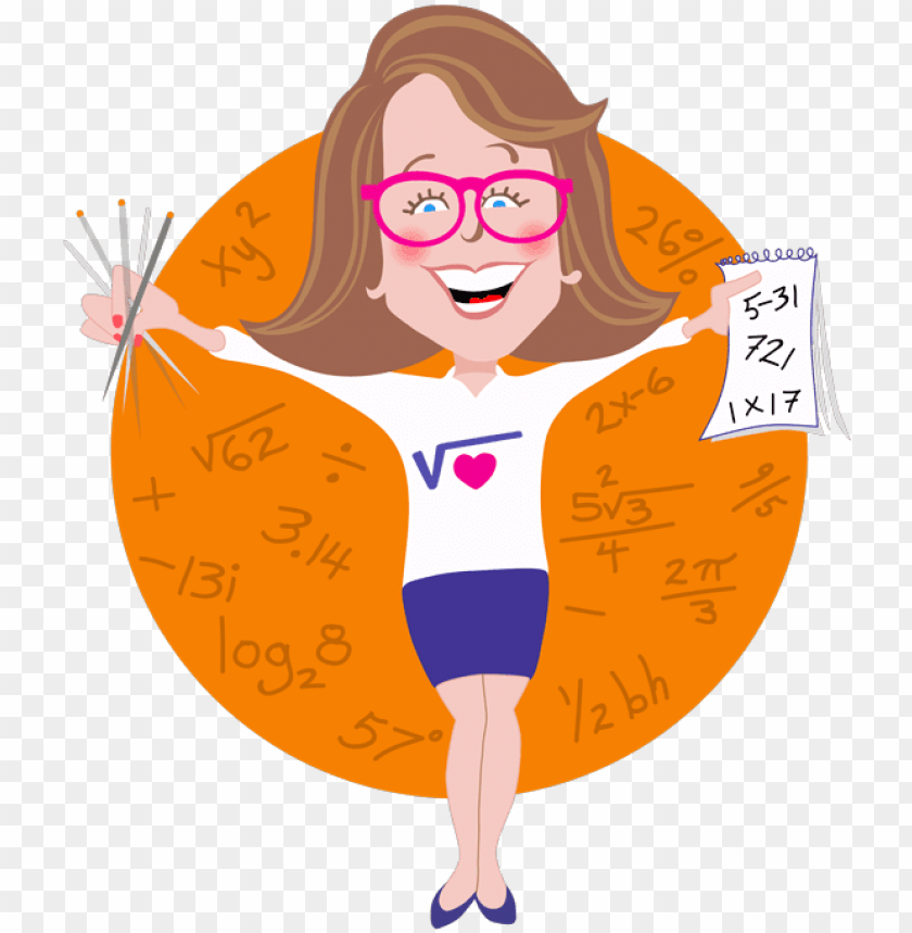 free PNG erdy math girl - 21 ways to improve your math grade ells all PNG image with transparent background PNG images transparent