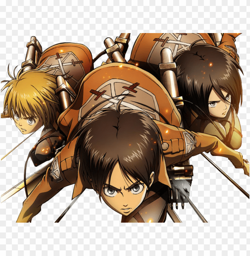 Eren Mikasa Armin Render By Infinitymoment D64md8p Shingeki No Kyojin Mikasa Eren Y Armi Png Image With Transparent Background Toppng