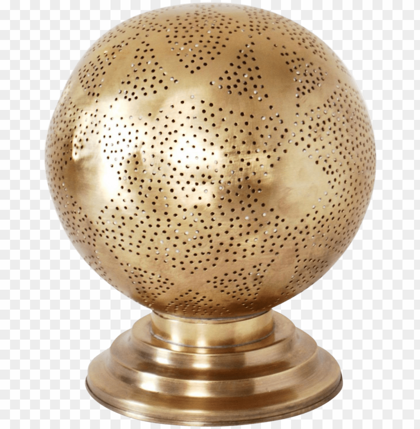 free PNG erfect for a bedside table or side table, this brass - round moroccan table lam PNG image with transparent background PNG images transparent