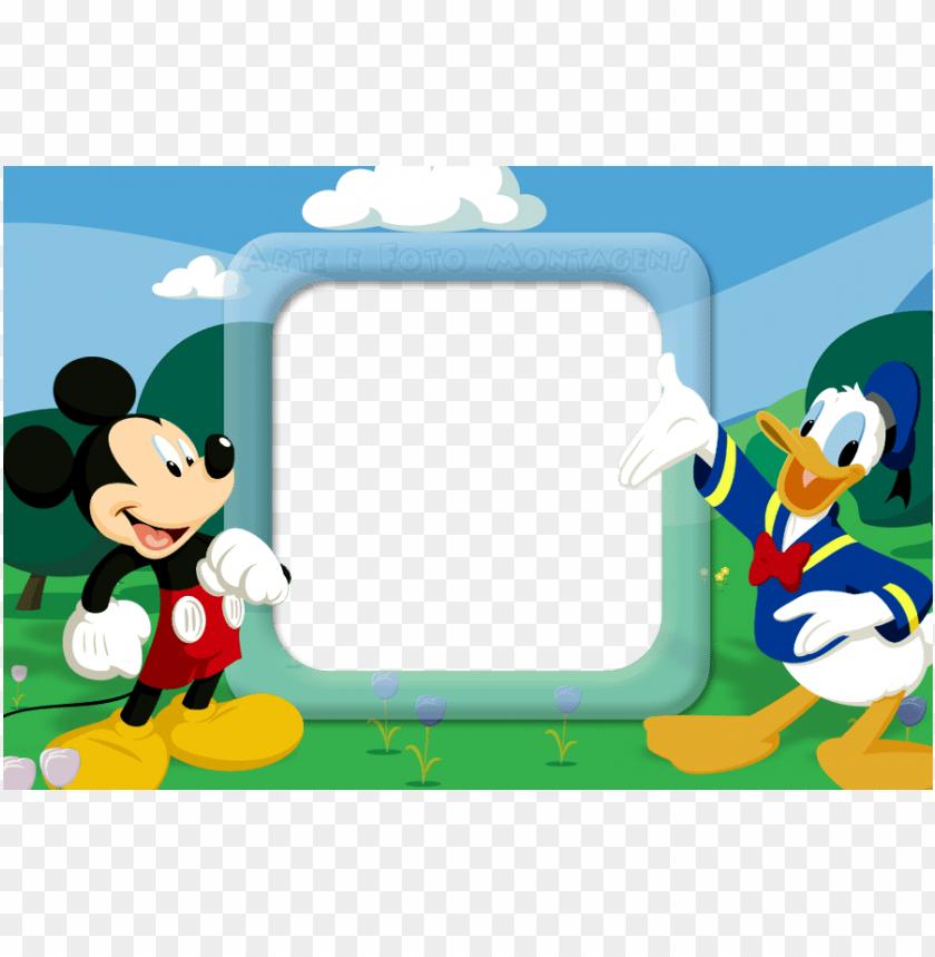 Ersonagens M P Molduras Para Fotos Mickey Png Image With