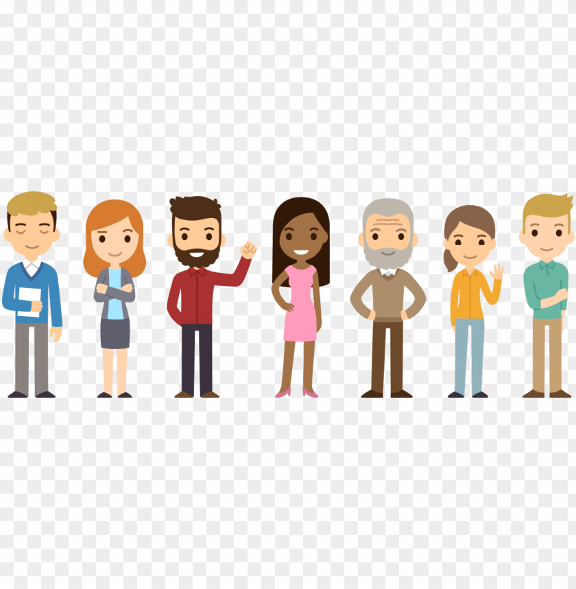 free PNG ersonal injury compensation claims - cartoon diverse group of people PNG image with transparent background PNG images transparent