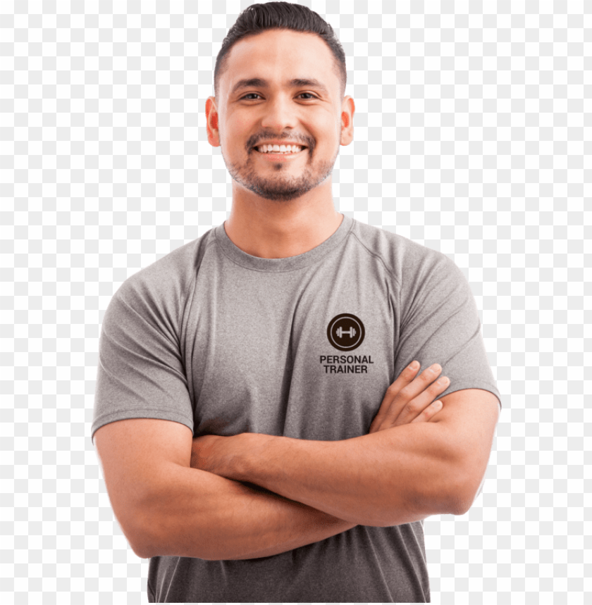 Ersonal Trainer Wearing Customised Logo T Shirt Personal Trainer T Shirts Uk Png Image With Transparent Background Toppng