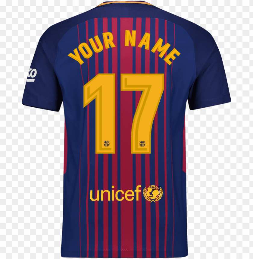 ersonalise your fc barcelona shirt with your own name fc barcelona jersey hd png image with transparent background toppng fc barcelona jersey hd png image with