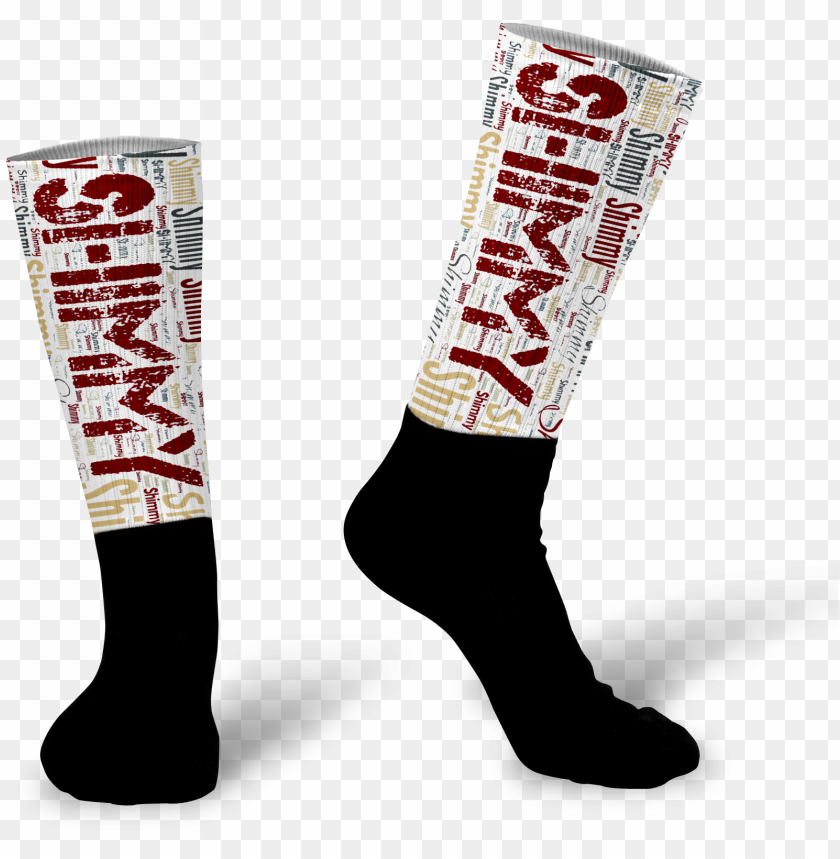 free PNG ersonalized word art socks - photograph PNG image with transparent background PNG images transparent