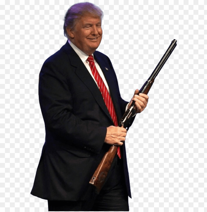 ersondonald-trump-holding-a-rifle-donald