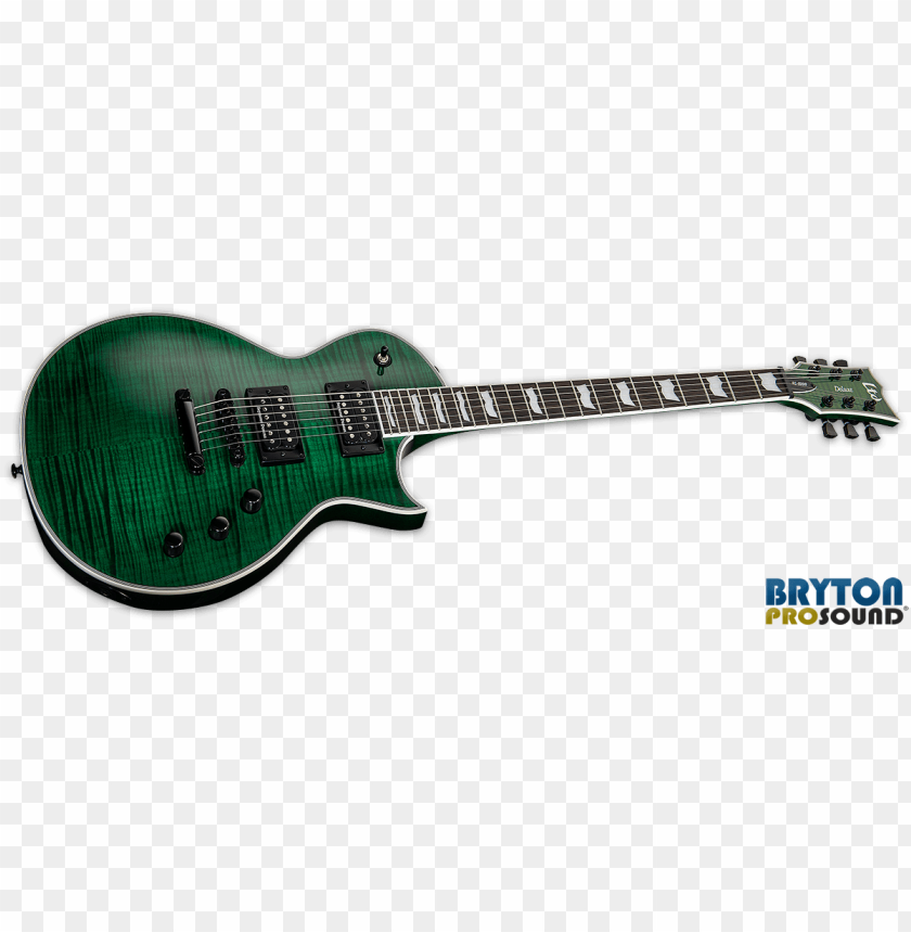 free PNG esp ltd ec 1000fm see thru green flame maple seymour - esp ltd ec-1000 electric guitar, vintage black PNG image with transparent background PNG images transparent