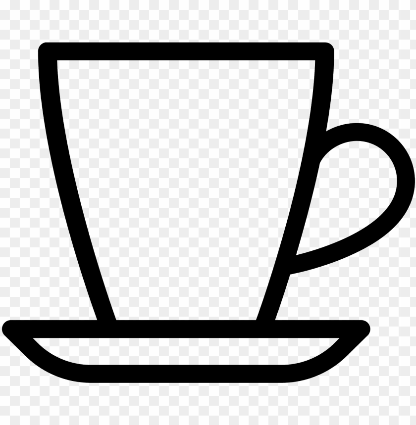 free PNG espresso cup icon - coffee cup outline PNG image with transparent background PNG images transparent